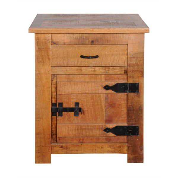 Aden End Table with Storage by Bloomsbury Market