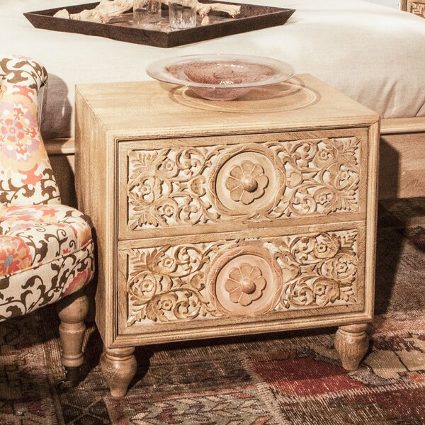 Maderia 2 Drawer Nightstand by Bungalow Rose