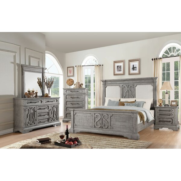 Freya Upholstered Standard Configurable Bedroom Set by One Allium Way