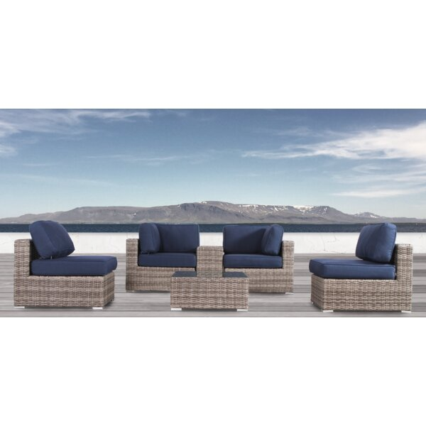 Lue 6 Piece Sunbrella Sectional Set with Cushions by Longshore Tides