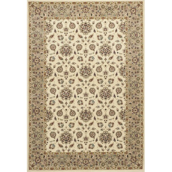 Arietta Ivory/Beige Area Rug by Charlton Home