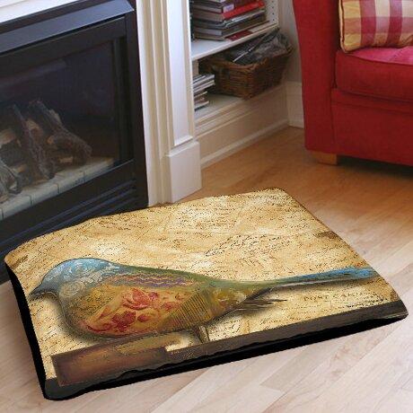 Bird of Collage 1 Indoor/Outdoor Pet Bed by Manual Woodworkers & Weavers
