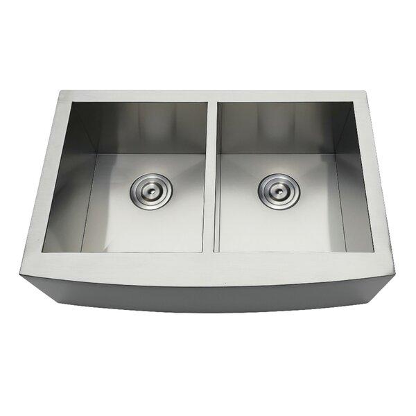 Gourmetier 30 L x 20 W Double Basin Farmhouse Kitchen Sink
