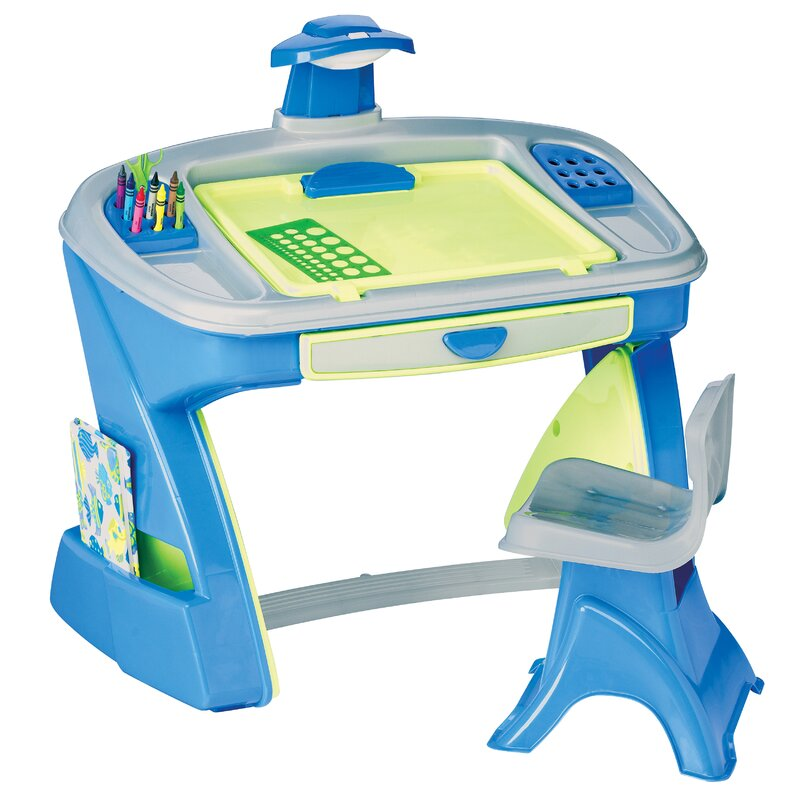 American Plastic Toys Creativity Desk And Easel Kids Table