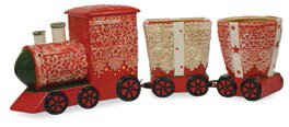 Train Pulling Ceramic Pot Planter by The Holiday Aisle