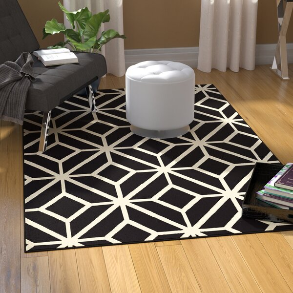 Pleione Black Indoor/Outdoor Area Rug by Wrought Studio