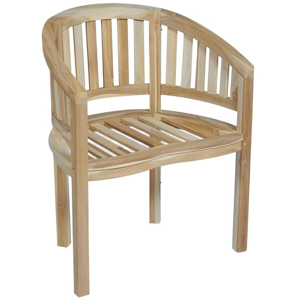 Lerch Banana Teak Patio Dining Chair by Millwood Pines