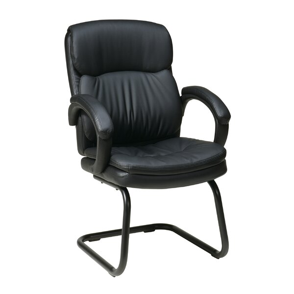Eco Leather Back Guest Chair with Padded Arms by Office Star Products