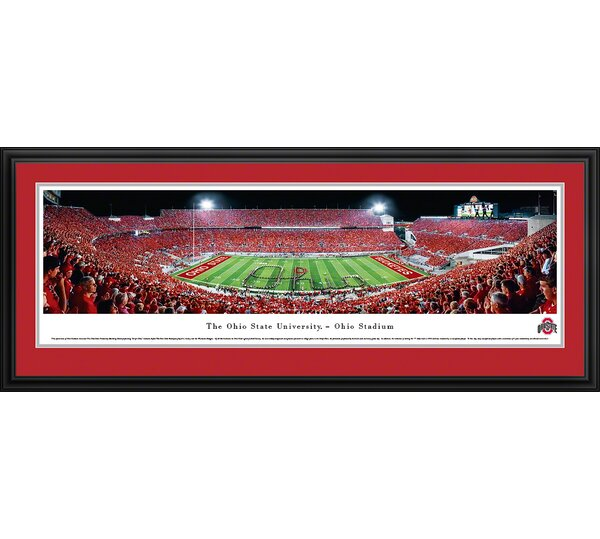 NCAA Ohio State University - Football - Script Framed Photographic Print by Blakeway Worldwide Panoramas, Inc