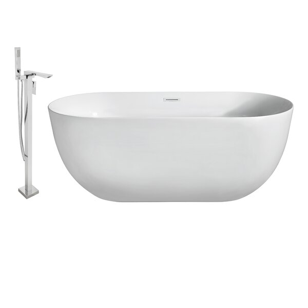 67 x 24 Freestanding Soaking Bathtub by Wildon Home ®
