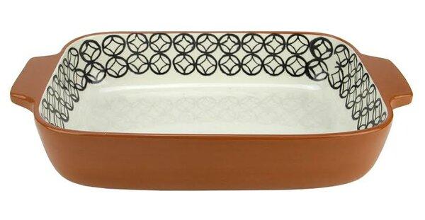 Basic Luxury Diamond Rectangular Terracotta Oven Baking Dish by Northlight Seasonal