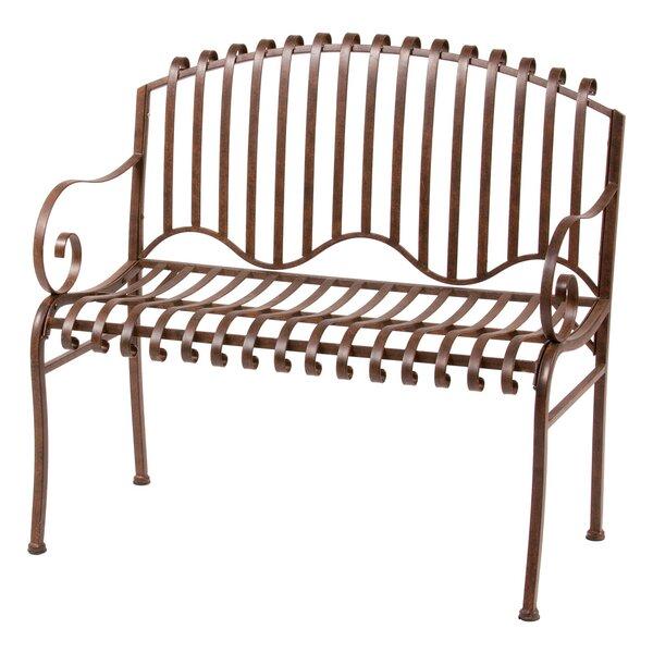Solera Metal Garden Bench by Deer Park Ironworks
