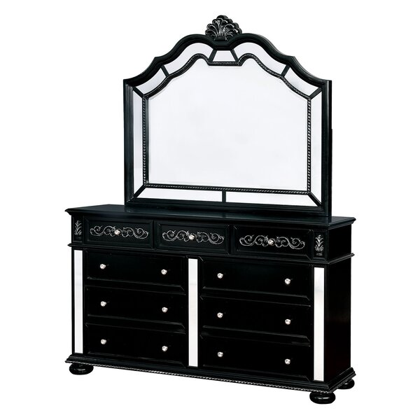 Esquivel 9 Drawer Double Dresser with Mirror by Rosdorf Park