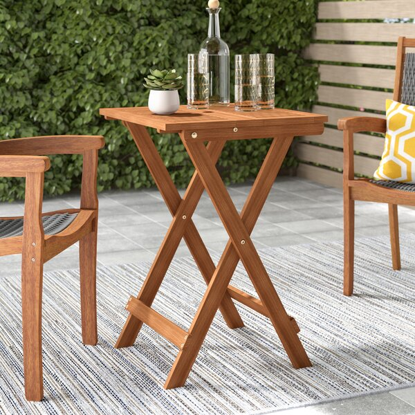 Arianna Folding Solid Wood Bistro Table by Langley Street™