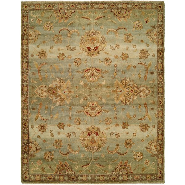 Auckland Hand-Knotted Blue/Gold Area Rug by Wildon Home ®