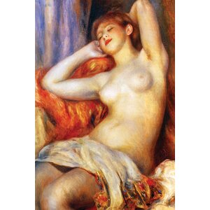 The Sleeping by Pierre - August Renoir Painting Print on Wrapped Canvas by Buyenlarge