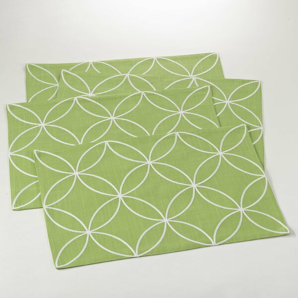 Leonora Tile Design Placemat (Set of 4) by Saro