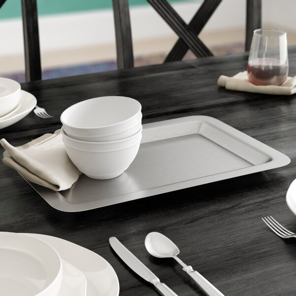 Harber Metals Stainless Steel Rectangle Serving Tray by Winston Porter