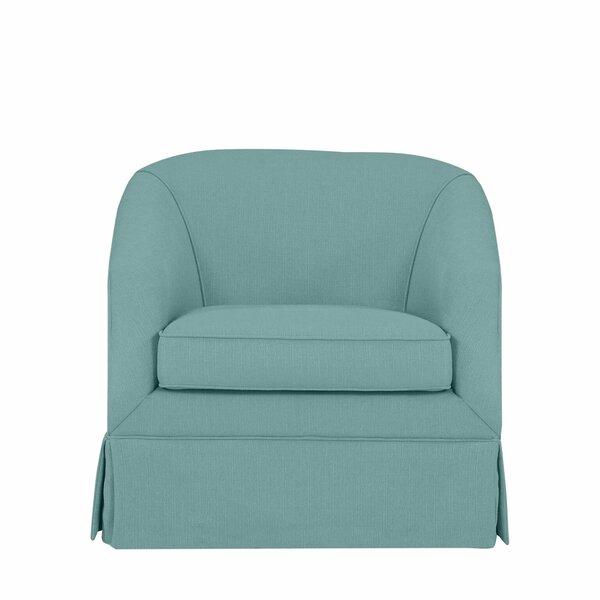 Clipper Swivel Barrel Chair by Latitude Run