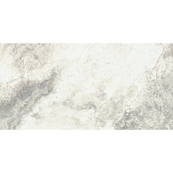 Baroque 12 x 24 Porcelain Field Tile in Vanilla by Parvatile