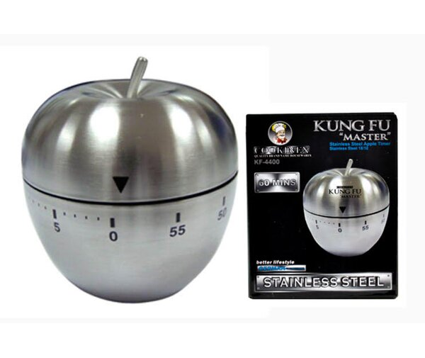 Kung Fu Master Stainless Steel Apple Timer by Cookinex