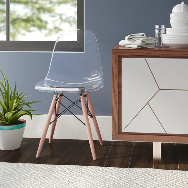 Revell Modern Transparent Dining Chair by Wrought Studio