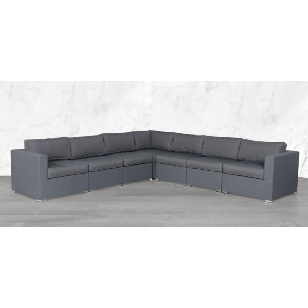 Fryman Modular 7 Piece Sectional Seating Group with Cushions by Orren Ellis