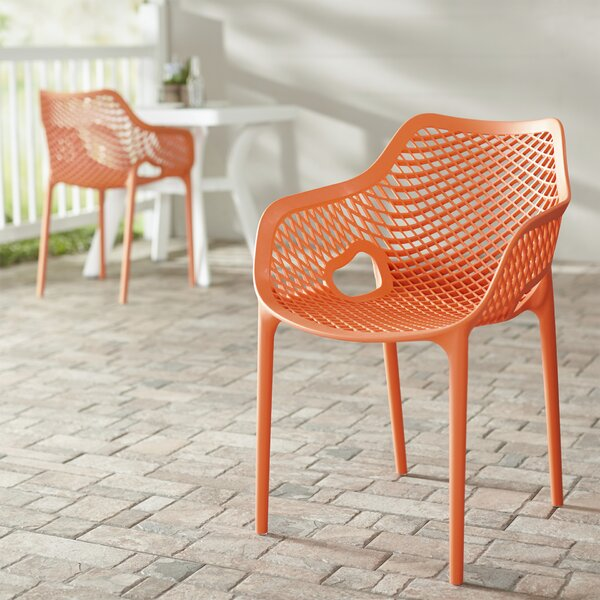 Curnutt Stacking Patio Dining Chair (Set of 2) by