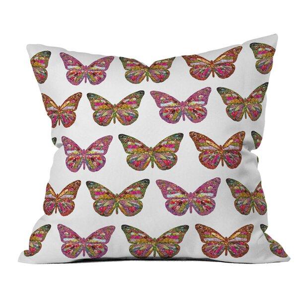 Bianca Butterflies Fly Outdoor Throw Pillow