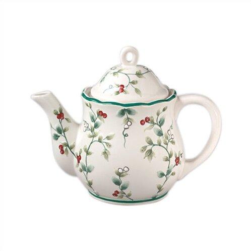 Winterberry Sculpted Teapot by Pfaltzgraff