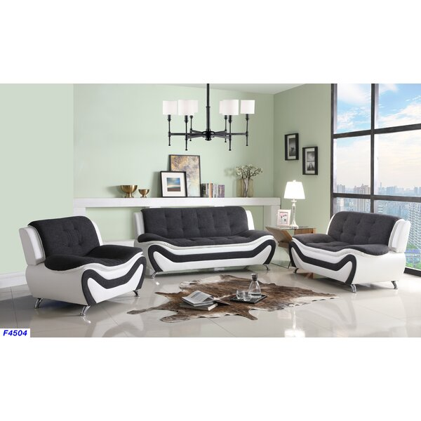 Giesler 3 Piece Living Room Set by Orren Ellis