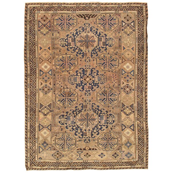 Sumak Antique Hand Knotted Wool Blue/Brown Area Rug by Pasargad