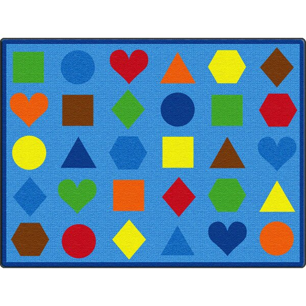 Lots of Shapes Blue Area Rug by ECR4kids