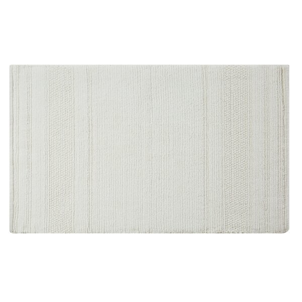 Luxe Handcrafted Rectangle 100% Cotton Bath Rug