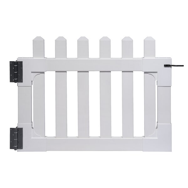 Newport 2.5 ft. H x 3.5 ft. W Vinyl Picket Gate by Zippity Outdoor Products