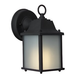 Great Price Oakhill 1-Light Outdoor Wall Lantern By Charlton Home