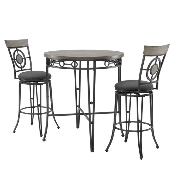 Alecto 3 Piece Bar Height Dining Set by Gracie Oaks