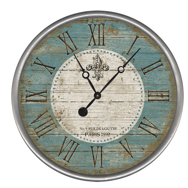 Fleur Wall Clock by Red Horse Arts