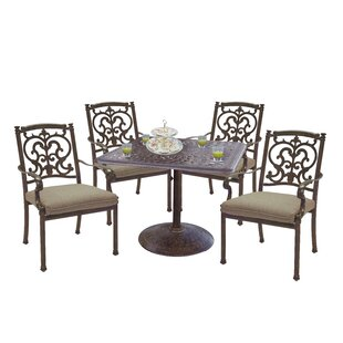 Palazzo Sasso 5 Piece Square Dining Set with Cushions By Astoria Grand
