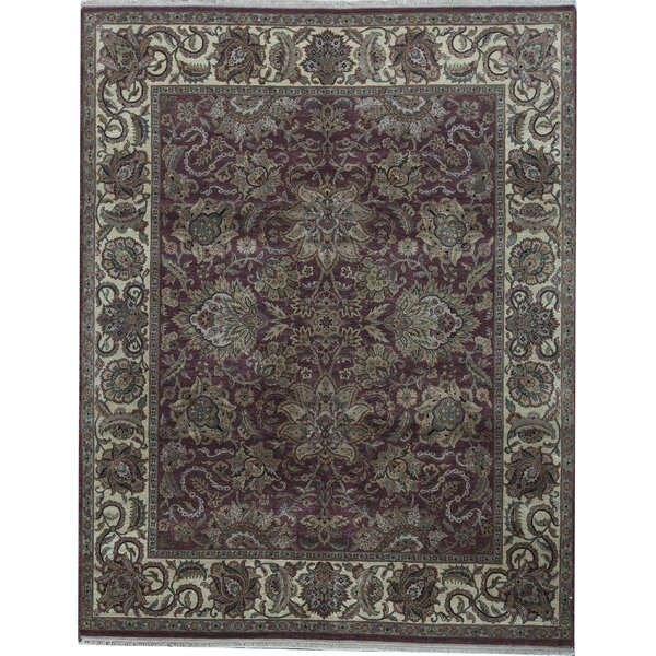 Oriental Hand-Knotted 8' x 10.2' Wool Red/Gold Area Rug