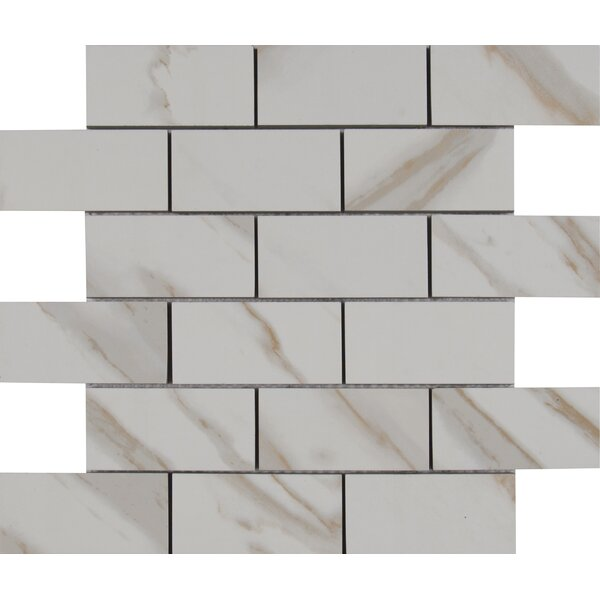 Pietra 2 x 4 Porcelain Mosaic Tile in Calcatta by MSI