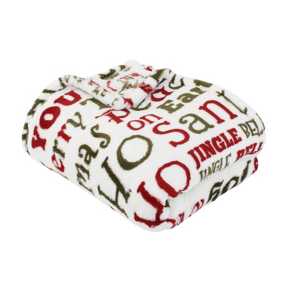 Dickens Christmas Words Printed Throw by The Holiday Aisle