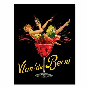 Vlan du Berni Framed Vintage Advertisement on Wrapped Canvas by Trademark Fine Art