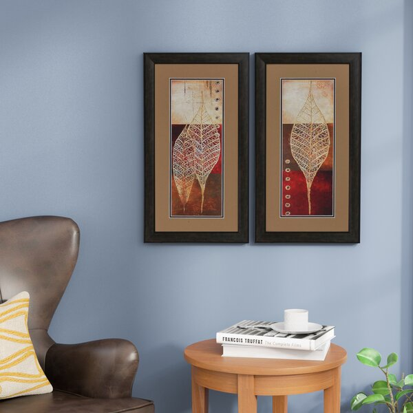Woodfield Framed Graphic Art Print Set on Paper (Set of 2) by Charlton Home