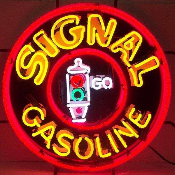 Signal Gasoline Neon Sign by Neonetics