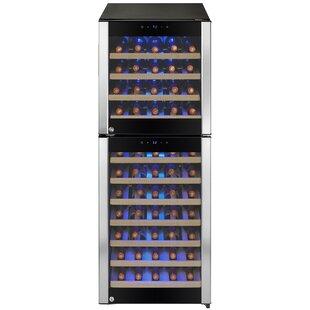 73 Bottle Built In Compressor Dual Zone Freestanding Wine Cooler