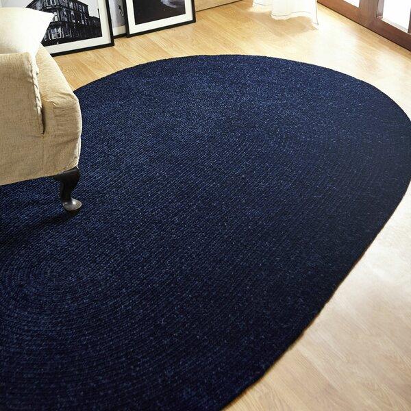 Chenille Reversible Dark Blue Indoor/Outdoor Area Rug by Better Trends