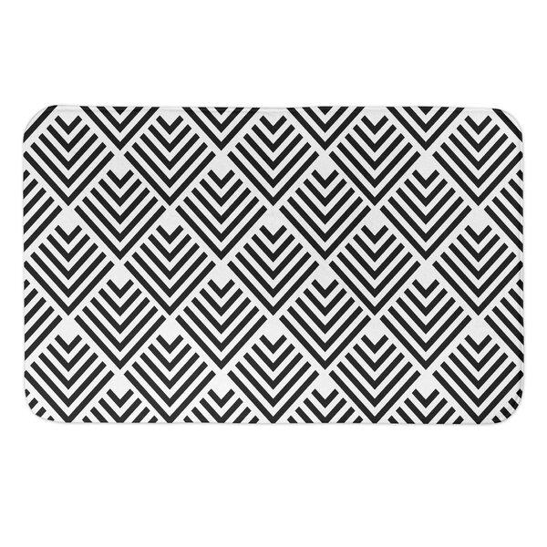 Filipe Geo Arrows Rectangle Non-Slip Geometric Bath Rug