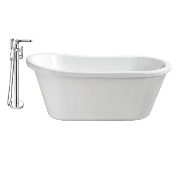 59 x 25 Freestanding Soaking Bathtub by Wildon Home ®