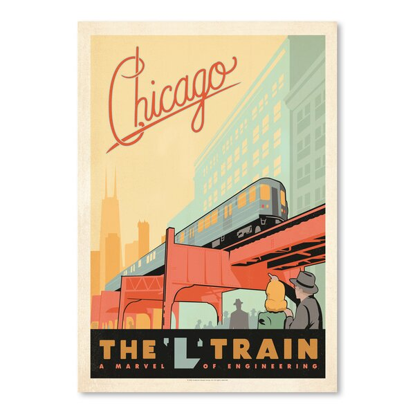 Chicago L Train Vintage Advertisement by East Urban Home